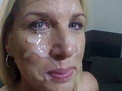 Ansiktsbehandling för min cum kärleksfull hustru