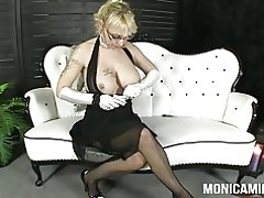 Monicamilf i en klassisk 30 & s PORRFILM - norsk porno