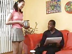 Evelyn lin får en smak av svart man & s cum