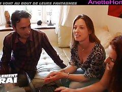 Live cam med en fransk amatör par och deras flickvän