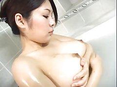 Big tit asiatiska tar bad