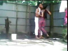 Unga skamlösa bengali par gör öppen luft jävla