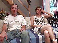Amatör franska par att ha sex framför vår kamera